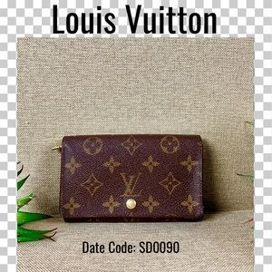 Louis Vuitton wallet porte monnaie billets tresor